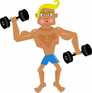 tränar med vikter